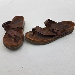 Mephisto Helen Sandals 41 11 Brown Leather Buckle
